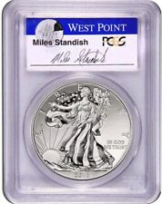 2013-W PCGS MS70 Enhanced SILVER EAGLE First Strike (Miles Standish Auto)