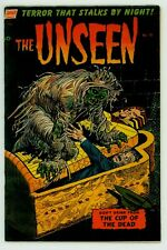 RARE THE UNSEEN #10 VG 4.0 CLASSIC KATZ GHOUL COVER  PRE-CODE HORROR COMIC 1953