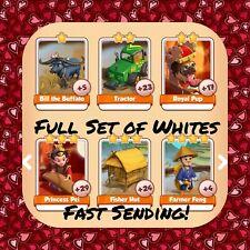 Coin Master Full China Set (All 6 Whites) Farmer Feng Etc.. (FastDelivery)