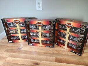 Maisto Harley-Davidson 1:18 Die Cast Collection 3 new sets Sealed 2008