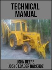 John Deere Jd510 Loader Backhoe Technical Manual Tm1039 On Usb Drive