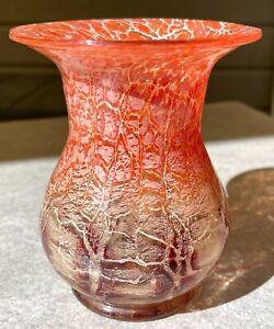 Art Deco Glas Vase WMF Ikora Karl Wiedmann rot um 1930 RAR Zustand: TOP Teil 2
