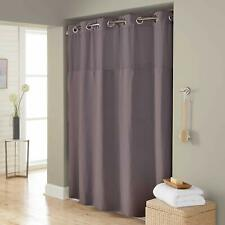 Hookless Hang in Seconds Waffle Fabric Shower Curtain (71 x 74, Frost Grey)