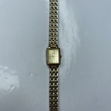 A Seiko 665252 1N01 0FH0 WR Ladies Gold Tank Vtg Retro Stainless Untested