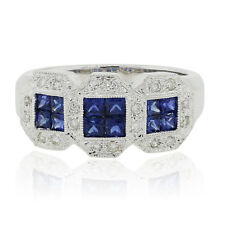 14k White Gold 0.25ctw Diamond and Tanzanite Ring
