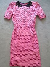 Vintage Valentino Night Silk Damask Polka Dot Vintage Dress Sz 8 or M SUPER RARE