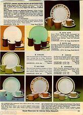 1969 ADVERTISEMENT Stoneware Mikasa Melamine Dinnerware Brookpark Luntz Beverage