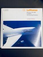 Herpa 362580 1:300 1/300 Lufthansa 747-400 D-ABVX Schleswig-Holst. limitiert neu