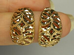 9 carat gold earrings 9ct butterflies, 3 grams