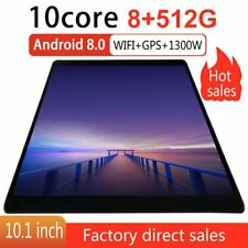 Android 8.0 WIFI/4G-LTE 8+512GB Tablet 10.1inch Pad 10...