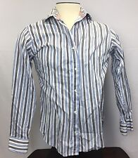 Tailorbyrd Men's Long Sleeve Button Up Flip Collar Size M