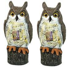 2 x Defenders Owl Humane Reflective Eyes Bird Scarer Mice Repeller Deterrent New