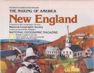 national geographic map-FEB 1987-NEW ENGLAND.