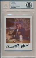 Willie Mays Signed Polaroid Photo Vintage Auto Beckett Authentic Encased #4008