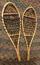 """Small Wooden Snowshoes Wood Salesman Sample/ Store Display Made in Canada 15.5"""""""