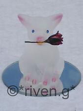 PIG SINGLE Red Rose FARMYARD LOVE GIFT@PIGLET Mirror Base@CUTE PIGGY Cake Topper
