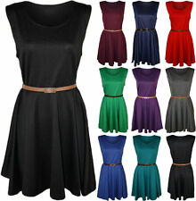 No Pattern Party Skater Dresses Plus Size for Women