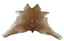 "Cowhide Rugs Calf Hide Cow Skin Rug 27""x29"" Brown White CH5236"
