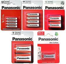 AAA AA C D 9V Genuine PANASONIC Zinc Carbon Batteries - New Choose Pack size