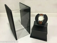 Beco Watch Winder Rotore Monoposto Carbonio Look Nero Vetrina art. 309401