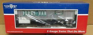 MTH 35-76011 NYC Flat Car #506059 w/48' Trailer (Smooth) S-Gauge NIB