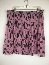 NWT Ann Taylor Loft Outlet pink floral pleated Skirt size XL women's