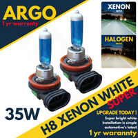 2x H8 Super Xenon White 35w Headlight Bulbs Head Light Bulb Lamp PGj19-1 708 12v