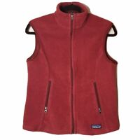 Patagonia Synchilla Red Deep Pile Fleece Outdoor Vest Full Zip Women's Medium