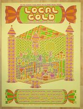 2014 Local Gold House Party - Sxsw Austin Silkscreen Concert Poster by Cogdut
