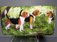 New Beagle Dog Zippered Check Book Wallet Ruth Maystead 3 Beagles Dogs Free Ship