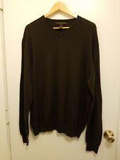Sebastian Cooper Men's Brown Cotton Cashmere Sweater XL EUC B450400