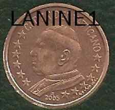 2 CENT DU COFFRET BU VATICAN 2005 (RARE)