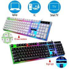 RGB LED 104 Keys Wired Backlit Mechanical Gaming Keyboard Keypads Anti-Ghosting
