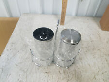 Cymas Salt and Pepper Grinder Set Mill Brushed Stainless Glass Bottle Spices
