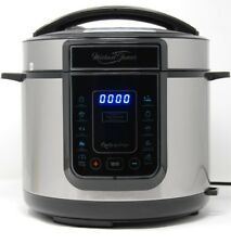 Michael James 5L Electric Pressure Cooker 12-in-1 900W Multicooker in Chrome