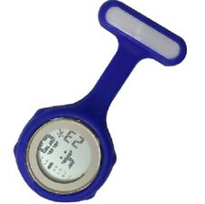 NEW FIRST HAND HEALTHCARE THERAPIST NURSE BLUE ROUND DIGITAL SILICONE WATCH