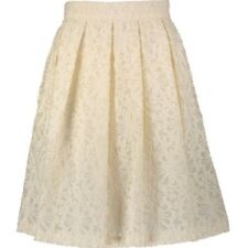MARC CAIN Cream Pleated Floral Skirt UK 12  £210