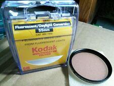 Kodak 55mm Fluorescent Daylight Conversion FLD Lens Filter FL-Day FL-D