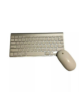 Apple Wireless Keyboard A1314 And Wireless Apple Mouse A1197 Bluetooth Set
