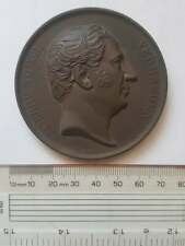 More details for large 67mm dia bronze medallion 1852 pierre theod superb condition
