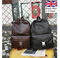 New Large Unisex Men Women Leather Backpack Shoulder Bag Rucksack Satchel Travel