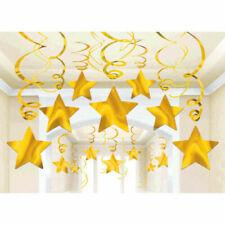 30 Yellow Shooting Star Swirl Decoration Graduation Wedding Birthday Party