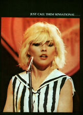 BLONDIE DEBBIE HARRY POSTER PAGE . T82H