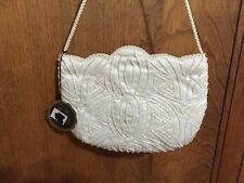 Le Regale LTD Ivory Beaded Evening Purse-new with tags!