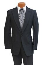 37L Charcoal Gray Stroller Jacket Hickory Stripe Pant Theater Costume Suit