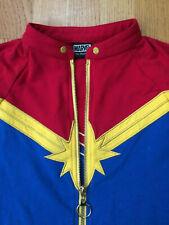 MARVEL HER UNIVERSE Captain Marvel Red Gold & Blue Zip Jacket Size L Cosplay
