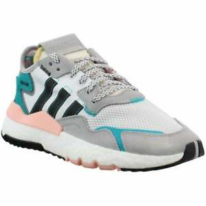 adidas Nite Jogger Lace Up    Kids Boys  Sneakers Shoes Casual   - White - Size