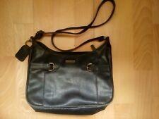 Handtasche LEDER-Optik Damentasche NEU navy beige schwarz Schultertasche q1p.eu