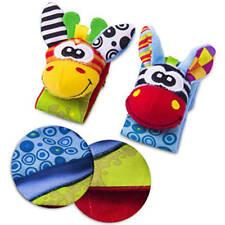 Born Baby Infant Socks Wrist Bands Rattle Sounds Rattling Sensory Toy Gift 2pcs Wrists Rattle