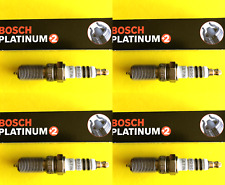New SET OF 4 BOSCH Platinum+2 Spark Plugs - 4315 Made in Germany